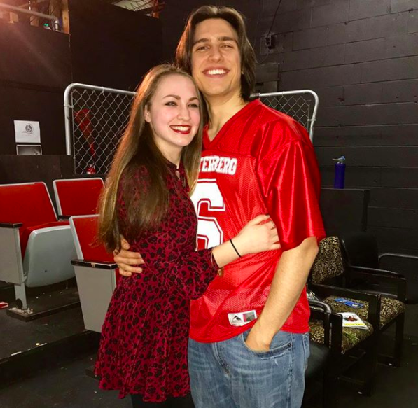 Me and my boyfriend in his Kurt Kelley costume after his production of Heathers: the Musical