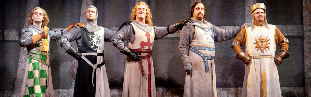 King Arthur and his Knights of the Round Table in Spamalot
