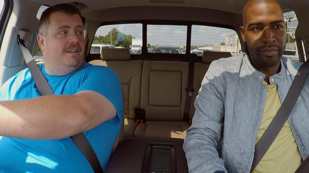 Karamo Brown and Cory in the Fab 5 car talking